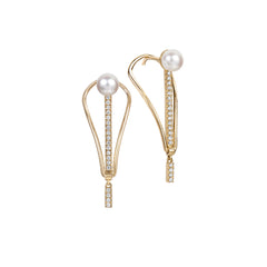 Shop the RUIFIER Icon Fine Pearl Spire Earrings