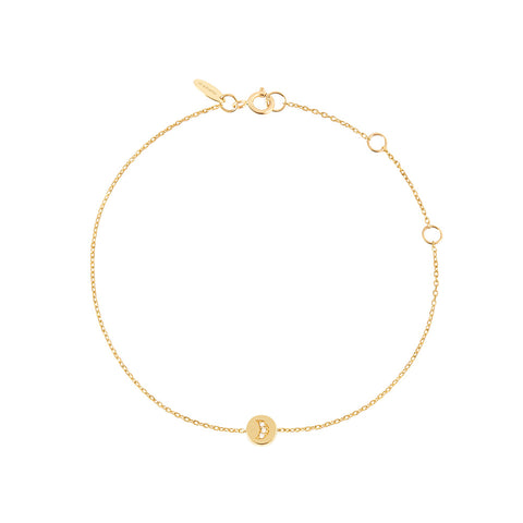 Shop the RUIFIER Modern Words Fine Crescent Bracelet