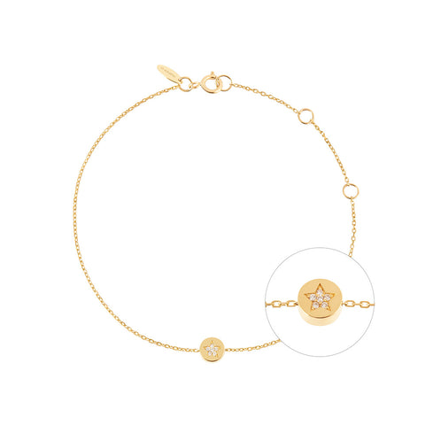 RUIFIER Modern Words Fine Star Bracelet