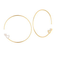 Shop the RUIFIER Modern Words Fine Double Hearts Hoops