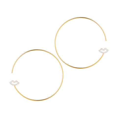 Modern Words Fine Crush Hoops