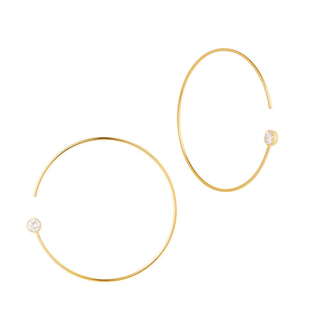 Shop the RUIFIER Modern Words Fine Dot Hoops