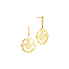 Super Smitten Disc Earrings Yellow Gold Vermeil