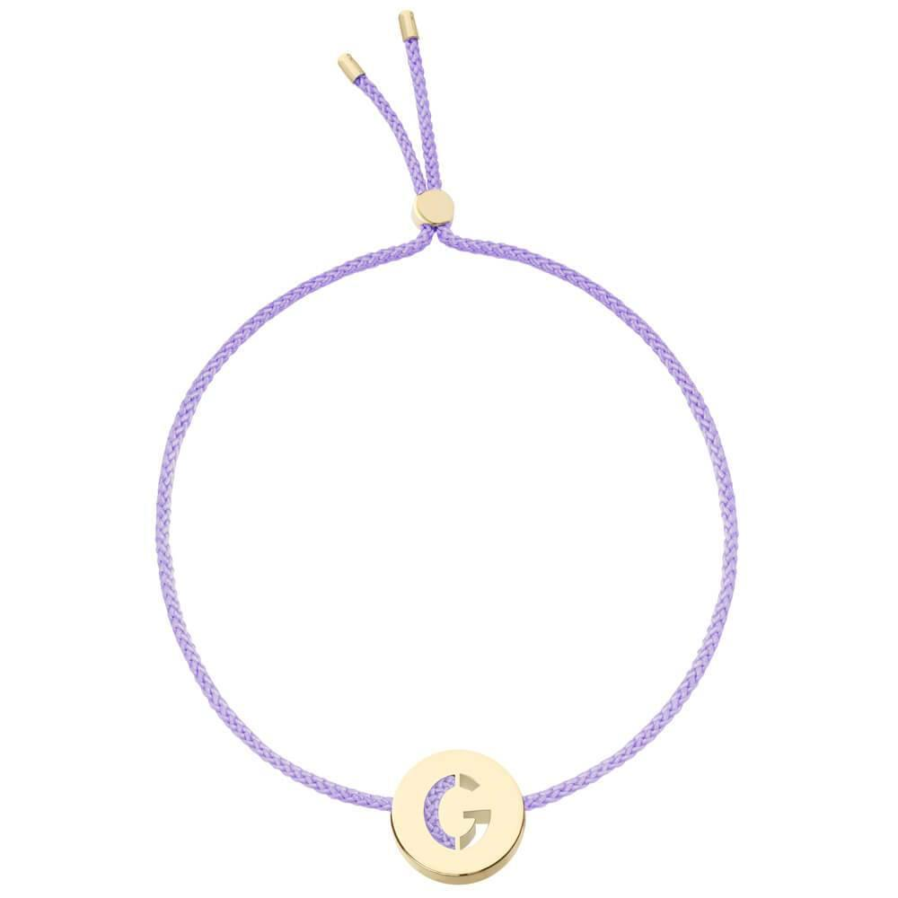 Ruifier ABC's G Cord Bracelet Lilac Yellow Gold