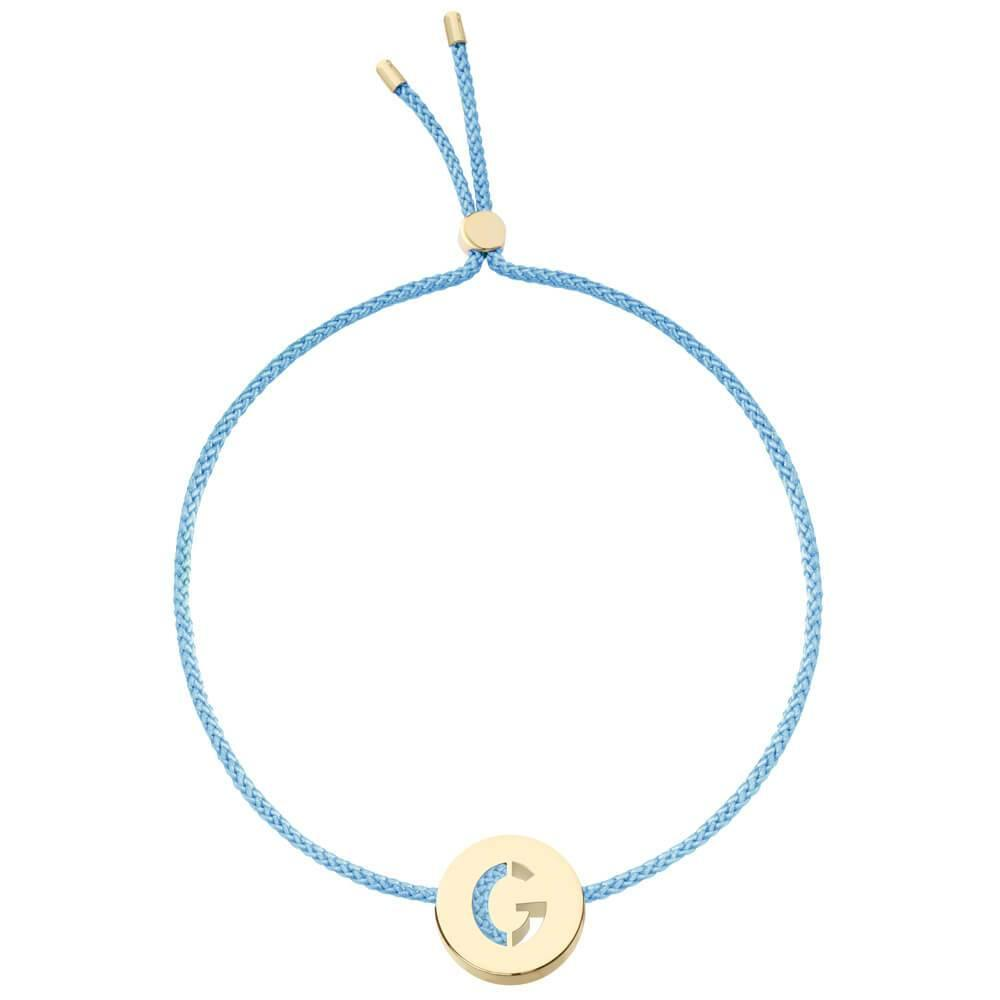 Ruifier ABC's G Cord Bracelet Sky Blue Yellow Gold