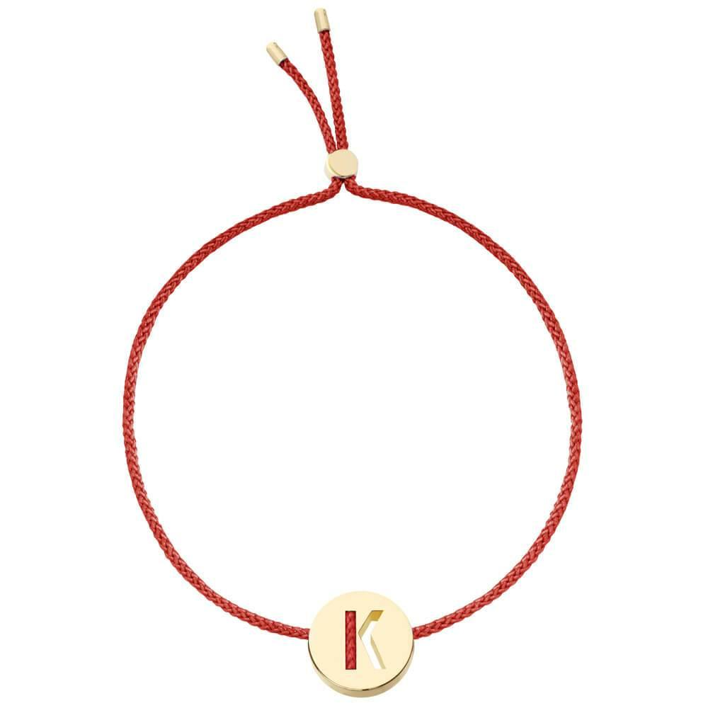 Ruifier ABC's K Cord Bracelet Burnt Umber Yellow Gold