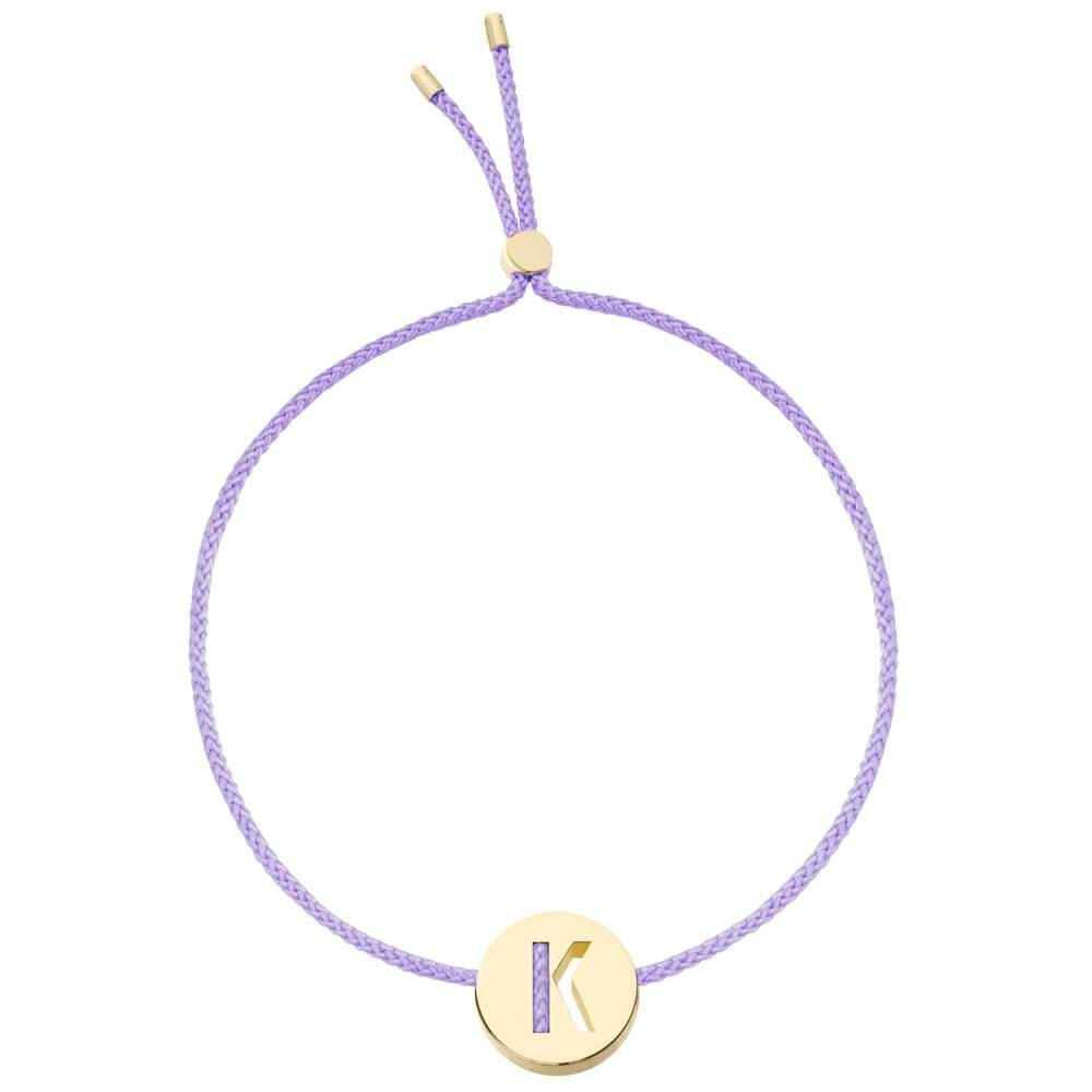Ruifier ABC's K Cord Bracelet Lilac Yellow Gold