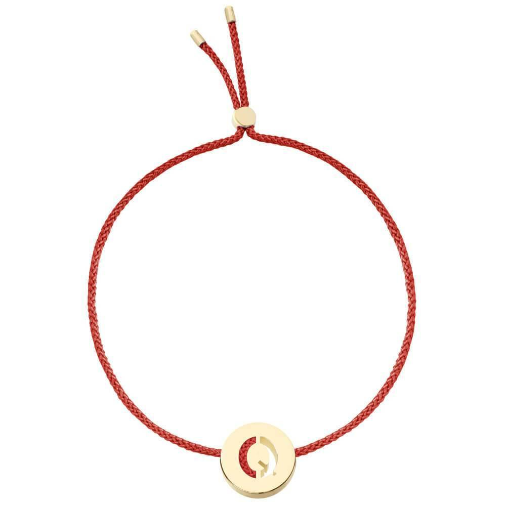 Ruifier ABC's Q Cord Bracelet Burnt Umber Yellow Gold