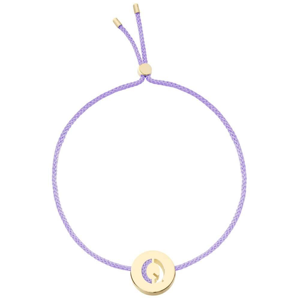 Ruifier ABC's Q Cord Bracelet Lilac Yellow Gold
