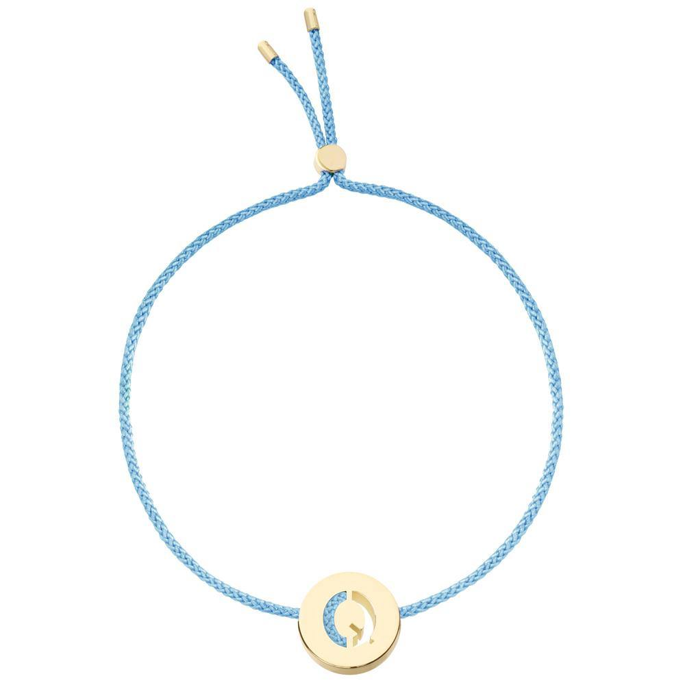 Ruifier ABC's Q Cord Bracelet Sky Blue Yellow Gold