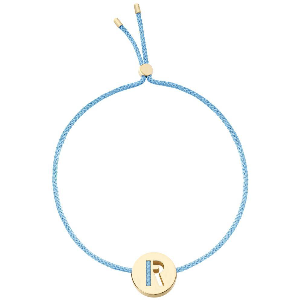 Ruifier ABC's R Cord Bracelet Sky Blue Yellow Gold