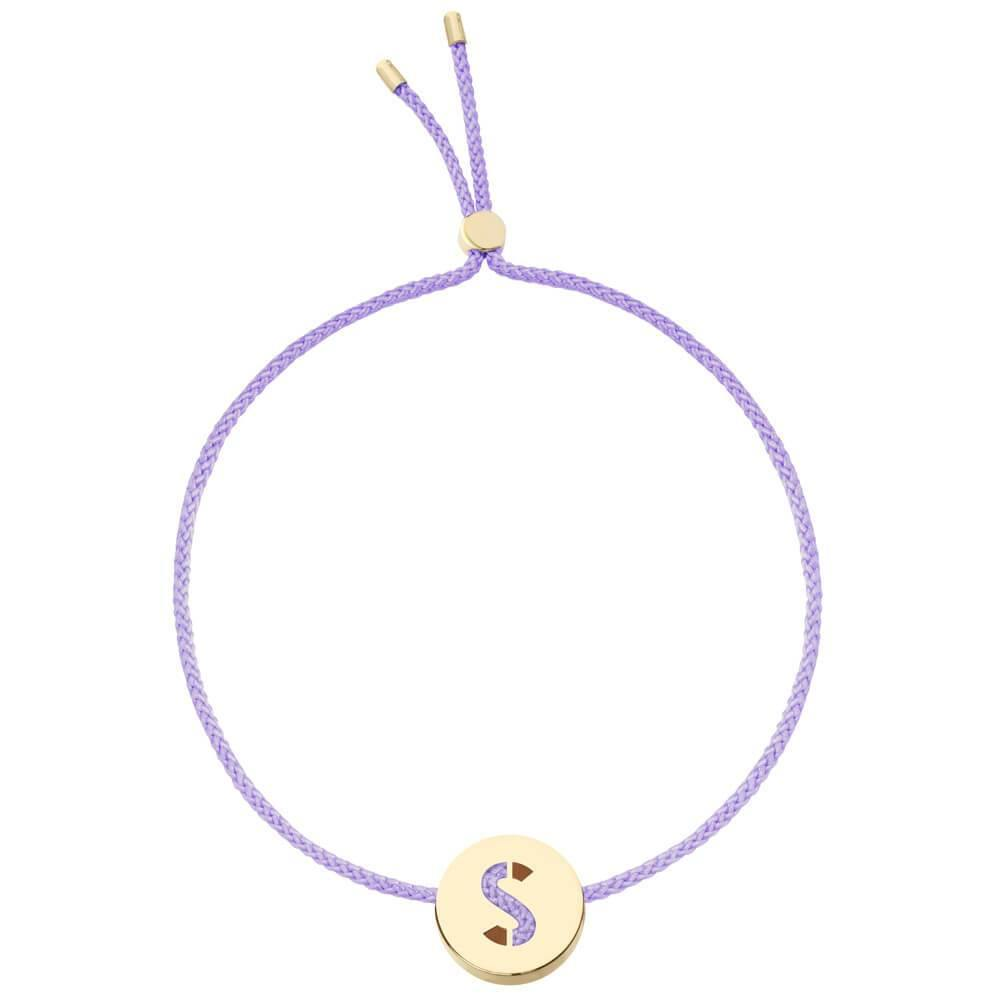 Ruifier ABC's S Cord Bracelet Lilac Yellow Gold