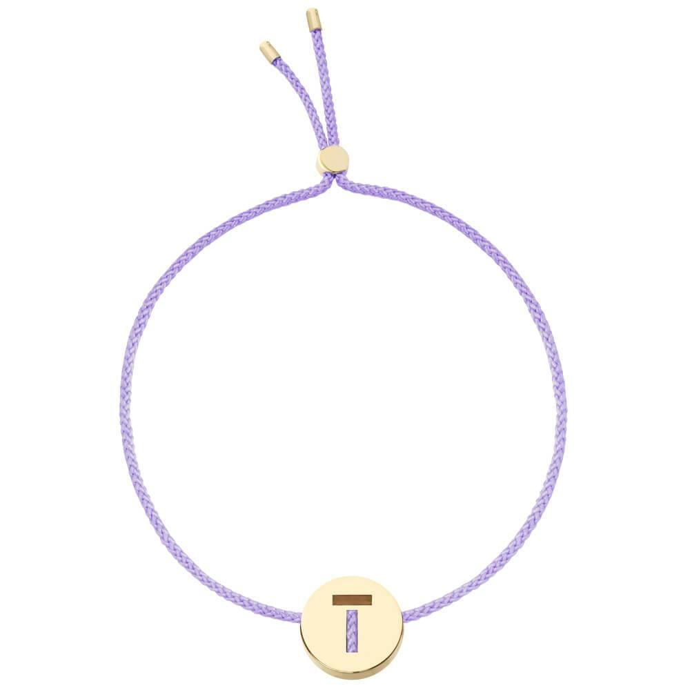 Ruifier ABC's T Cord Bracelet Lilac Yellow Gold