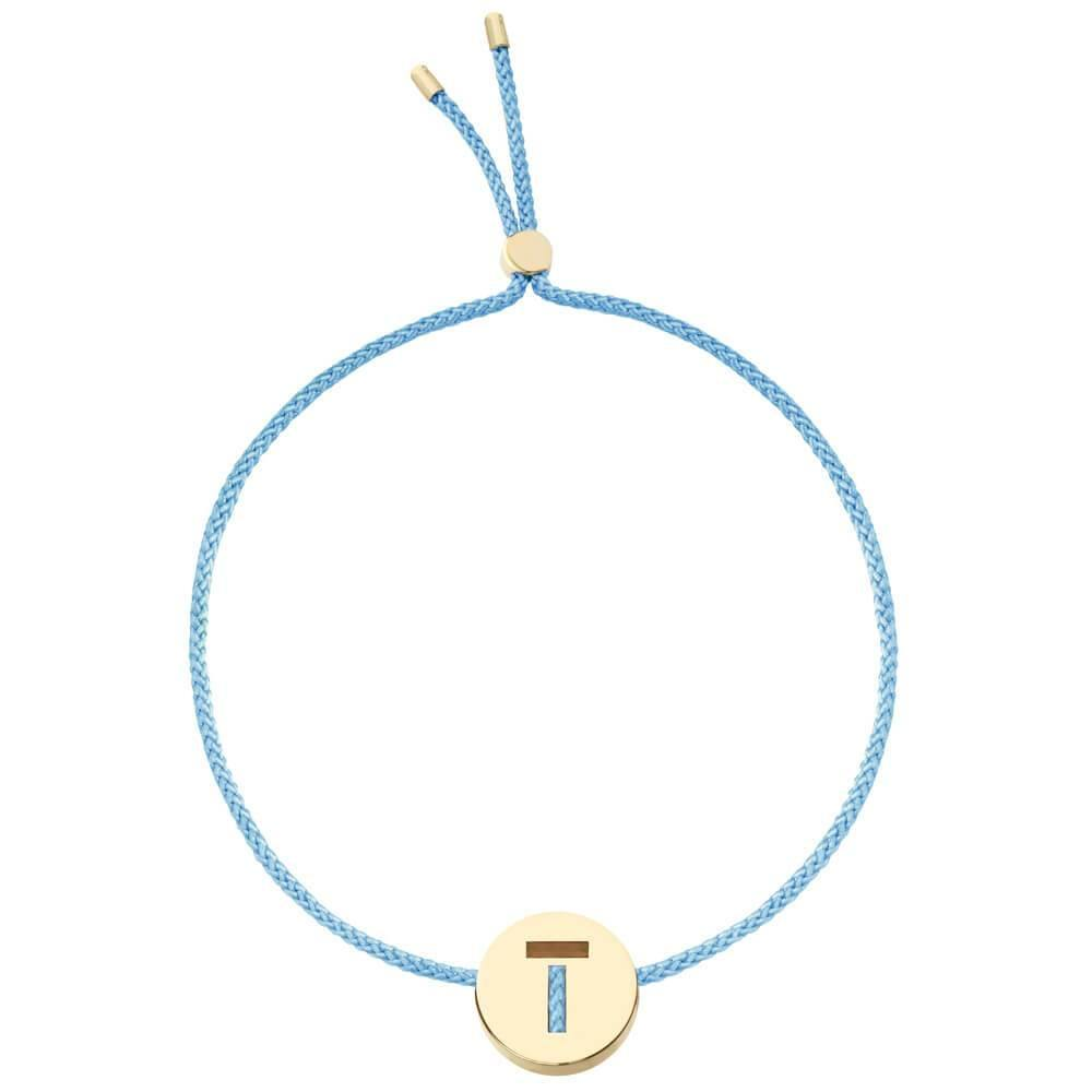 Ruifier ABC's T Cord Bracelet Sky Blue Yellow Gold