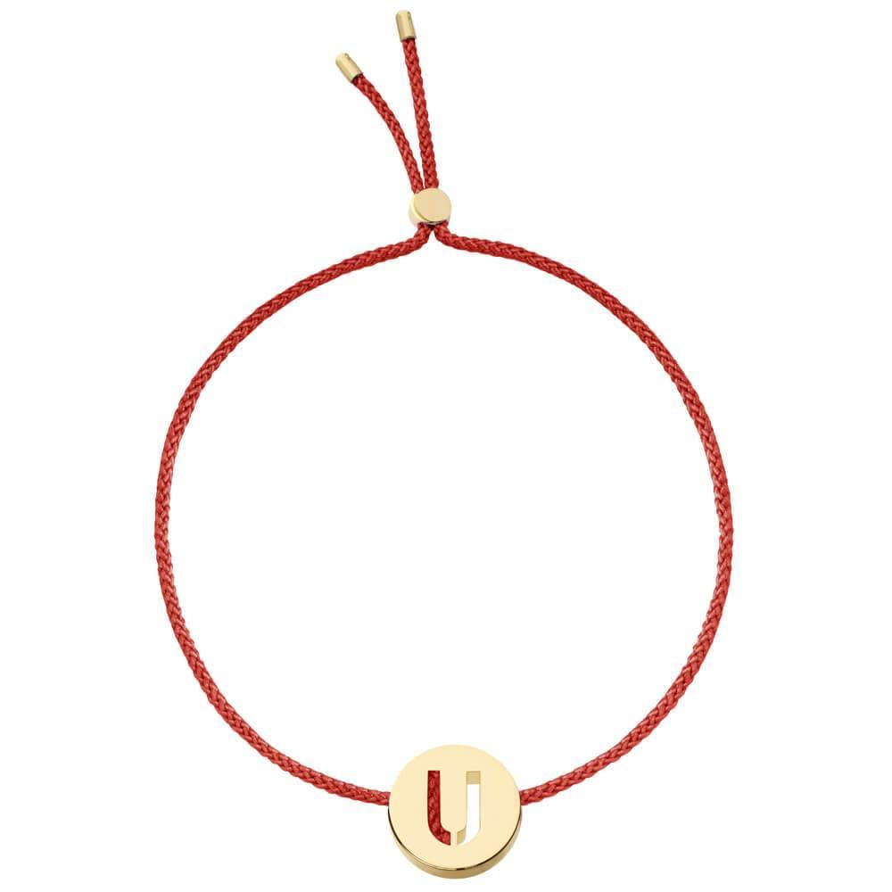 Ruifier ABC's U Cord Bracelet Burnt Umber Yellow Gold