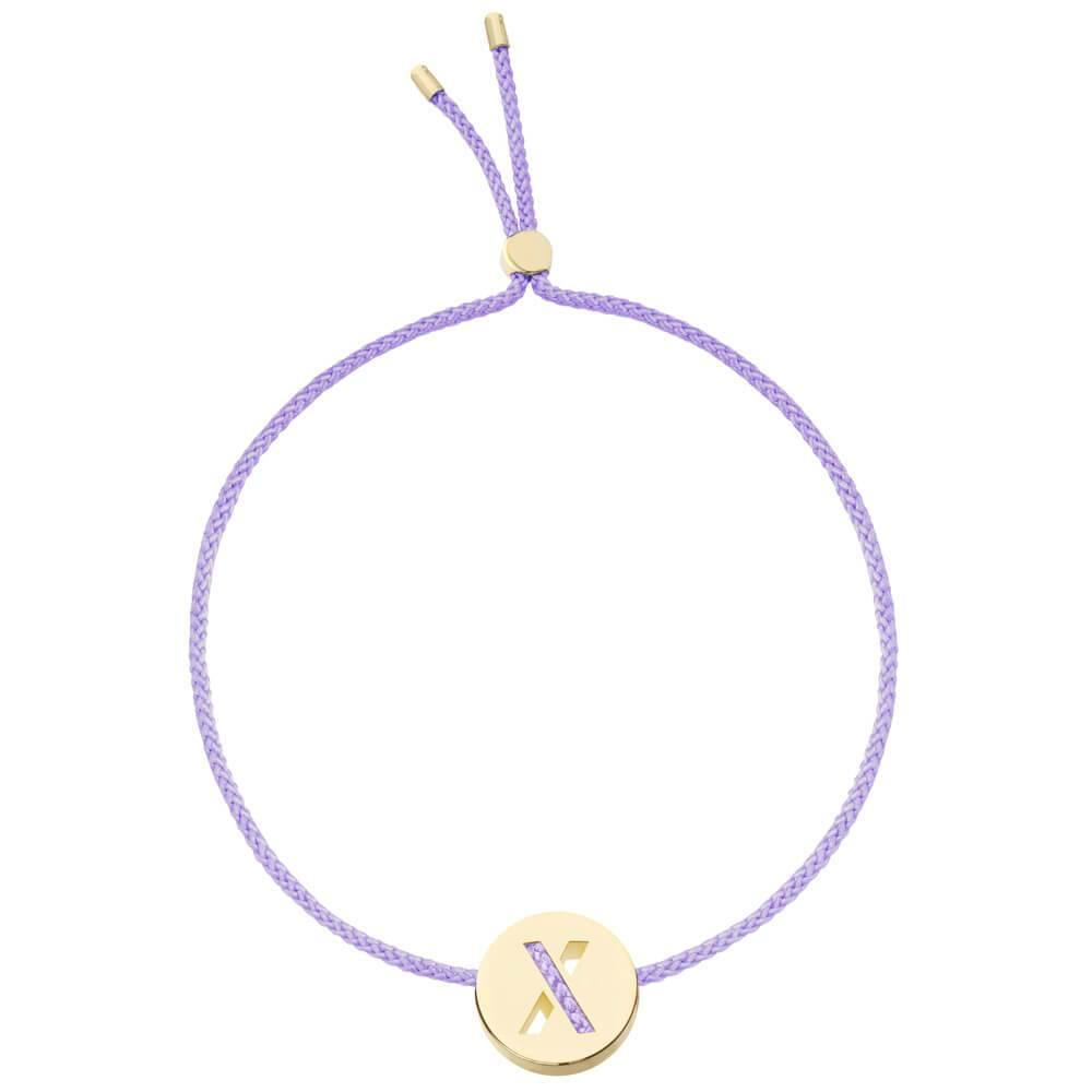 Ruifier ABC's X Cord Bracelet Lilac Yellow Gold