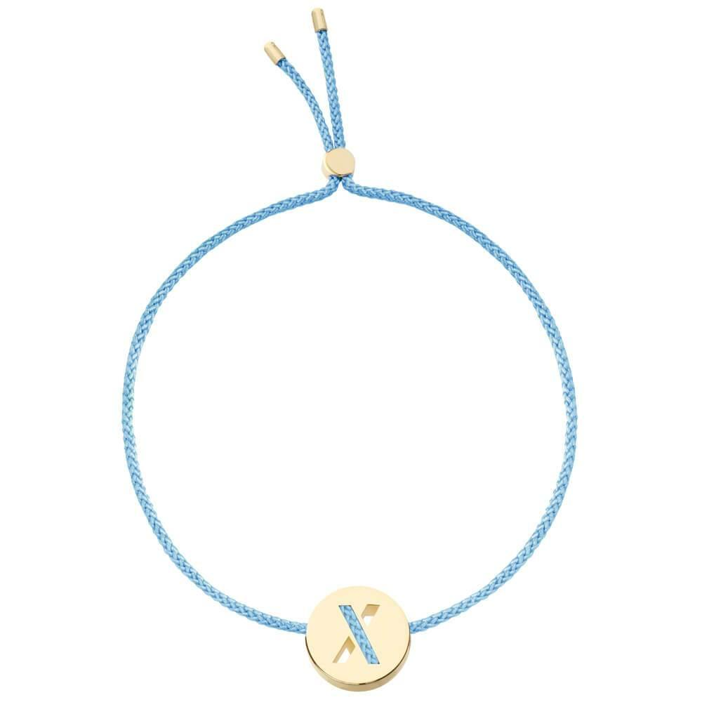 Ruifier ABC's X Cord Bracelet Sky Blue Yellow Gold
