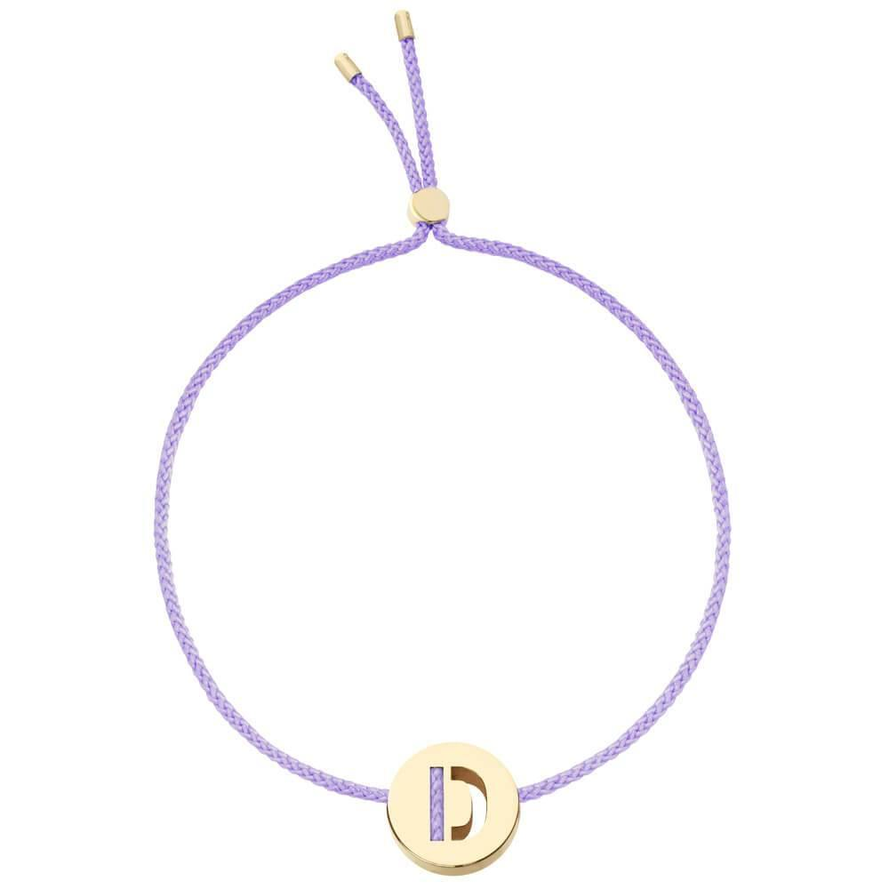 Ruifier ABC's D Cord Bracelet Lilac Yellow Gold