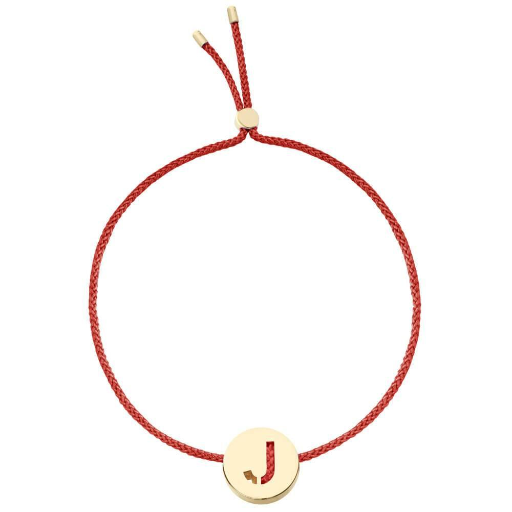 Ruifier ABC's J Cord Bracelet Burnt Umber Yellow Gold