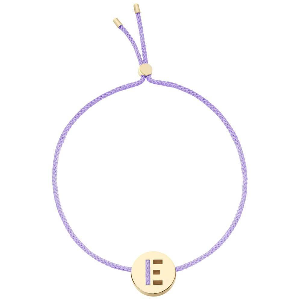 Ruifier ABC's E Cord Bracelet Lilac Yellow Gold