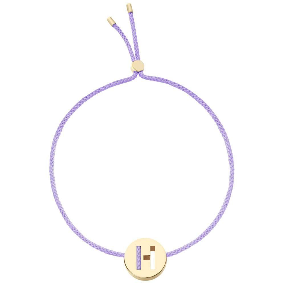Ruifier ABC's H Cord Bracelet Lilac Yellow Gold