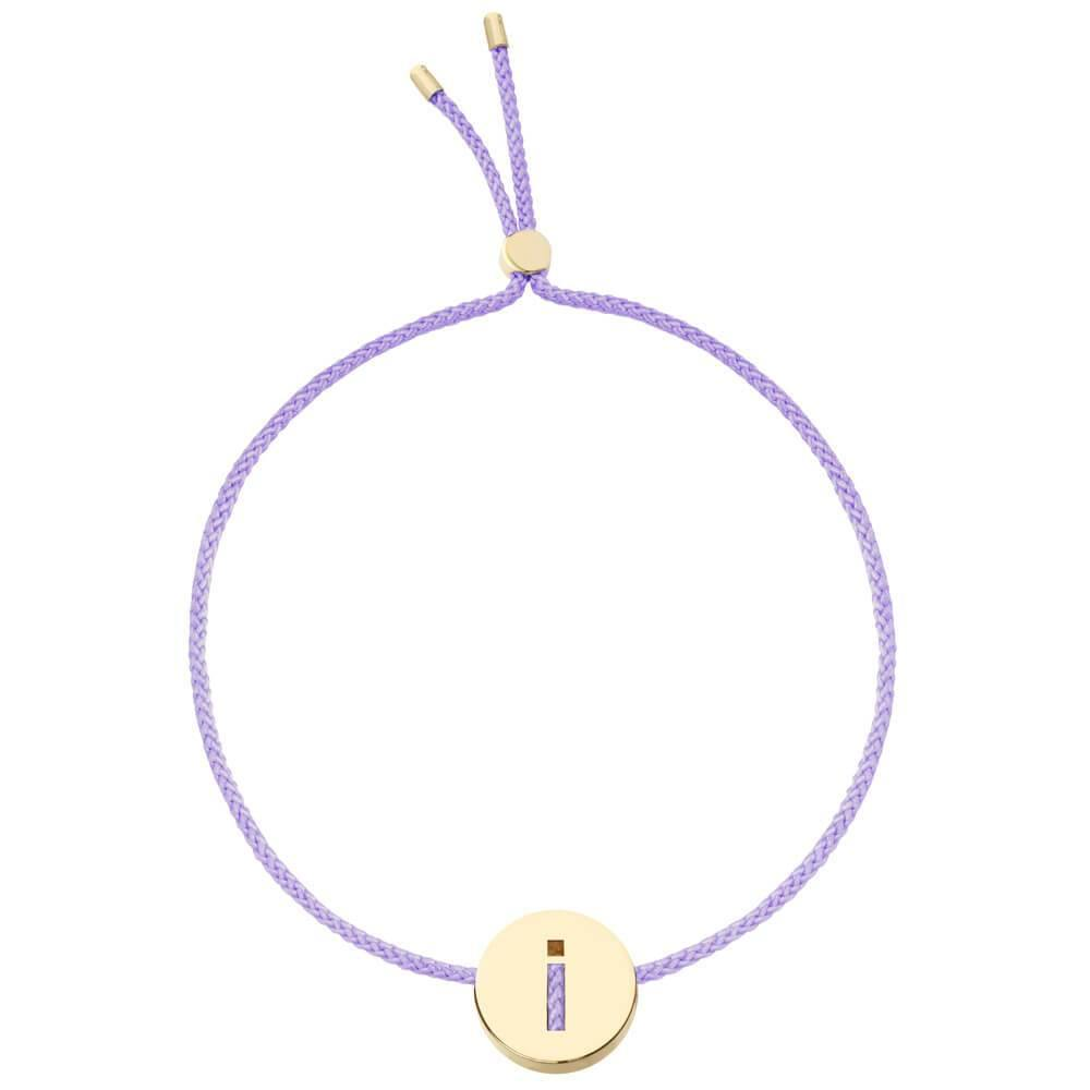 Ruifier ABC's I Cord Bracelet Lilac Yellow Gold