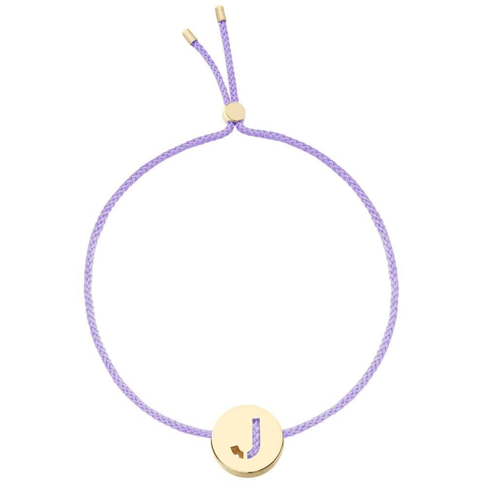 Ruifier ABC's J Cord Bracelet Lilac Yellow Gold