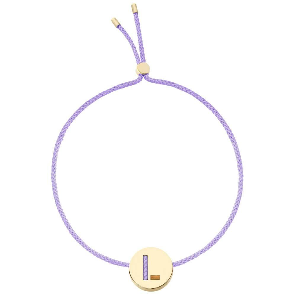 Ruifier ABC's L Cord Bracelet Lilac Yellow Gold