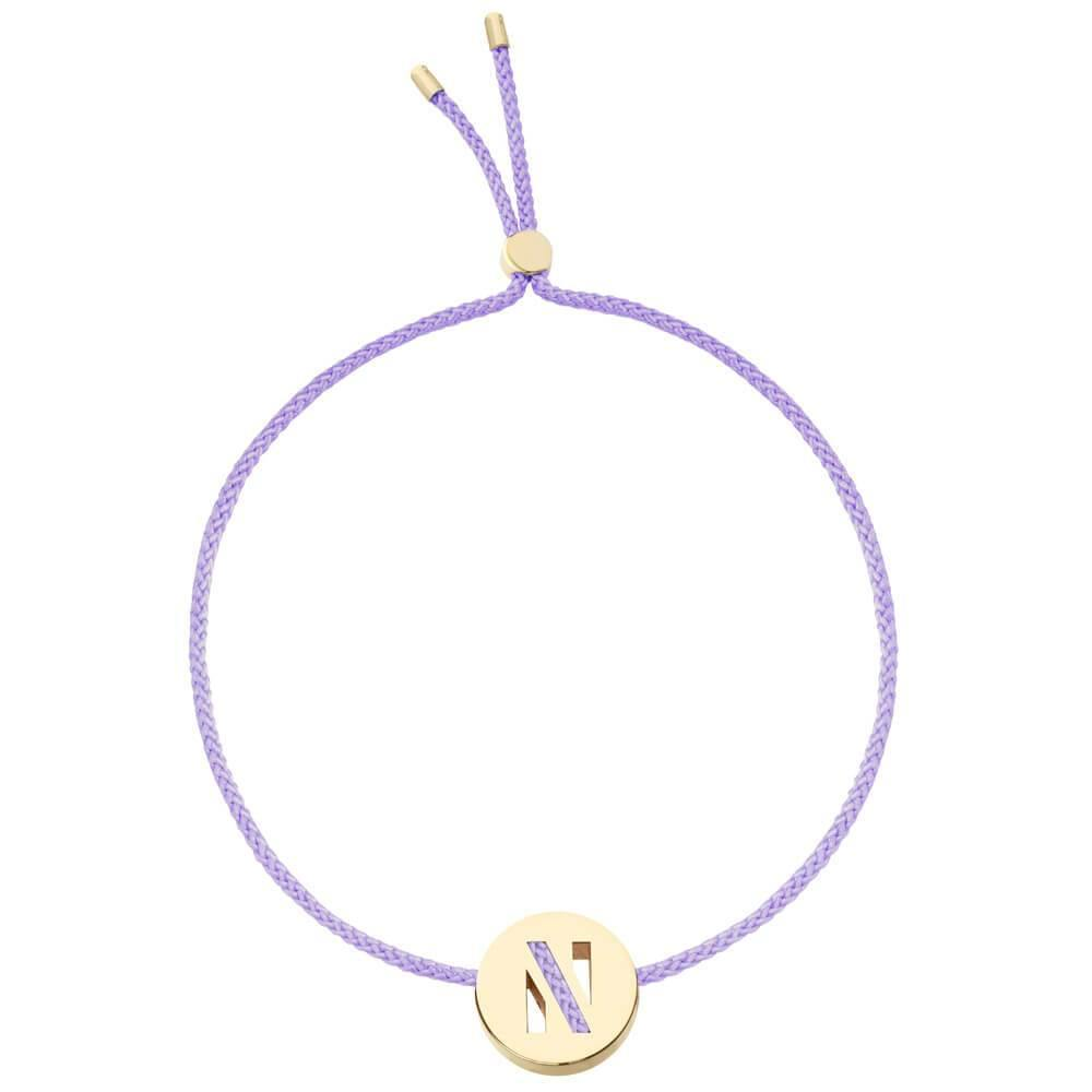 Ruifier ABC's N Cord Bracelet Lilac Yellow Gold