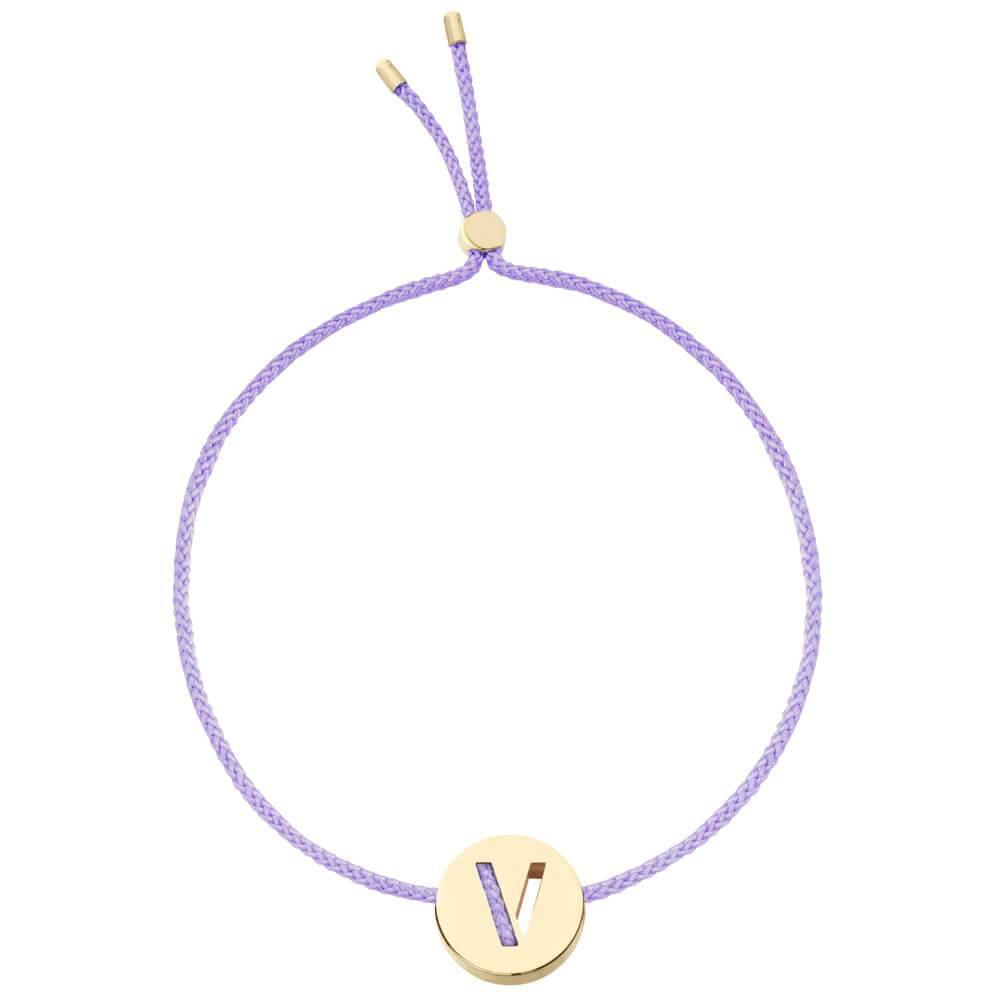 Ruifier ABC's V Cord Bracelet Lilac Yellow Gold