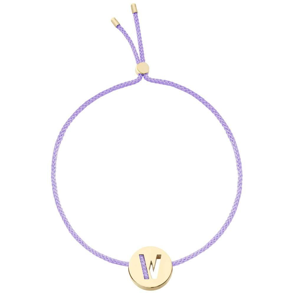 Ruifier ABC's W Cord Bracelet Lilac Yellow Gold