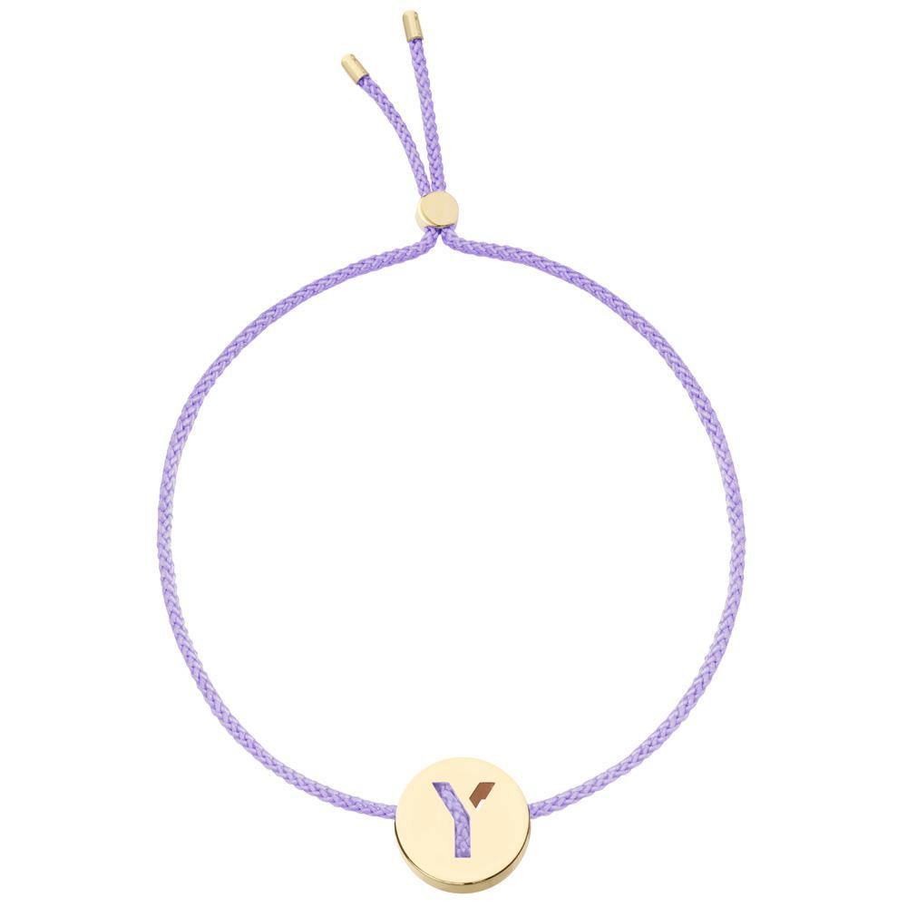 Ruifier ABC's Y Cord Bracelet Lilac Yellow Gold