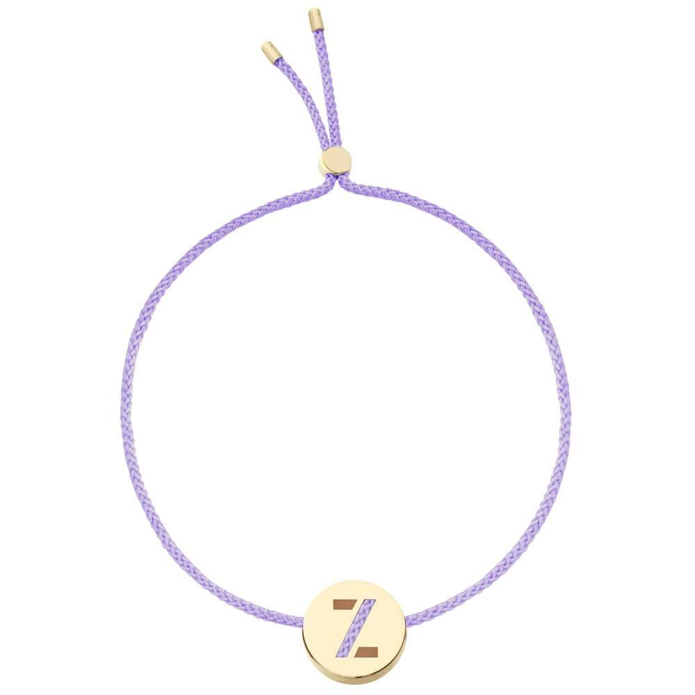 Ruifier ABC's Z Cord Bracelet Lilac Yellow Gold