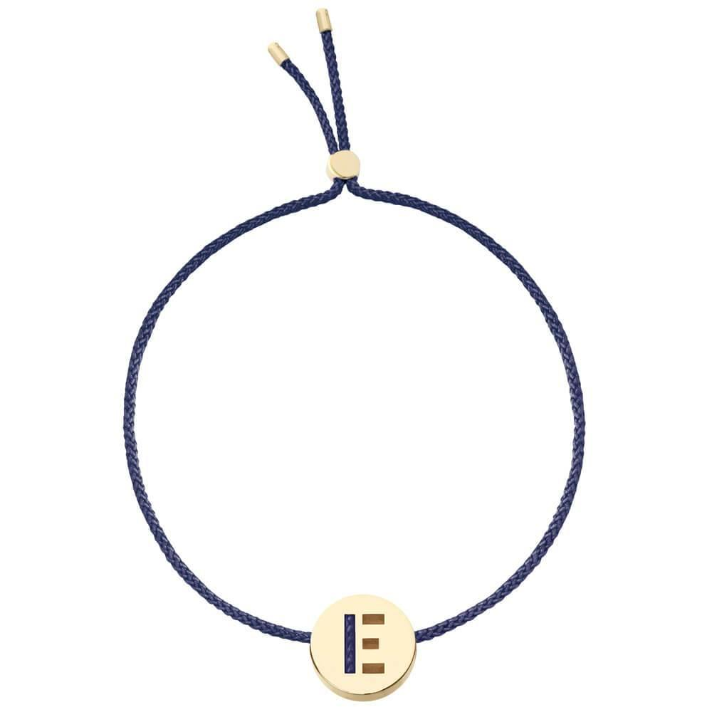 Ruifier ABC's E Cord Bracelet Navy Yellow Gold
