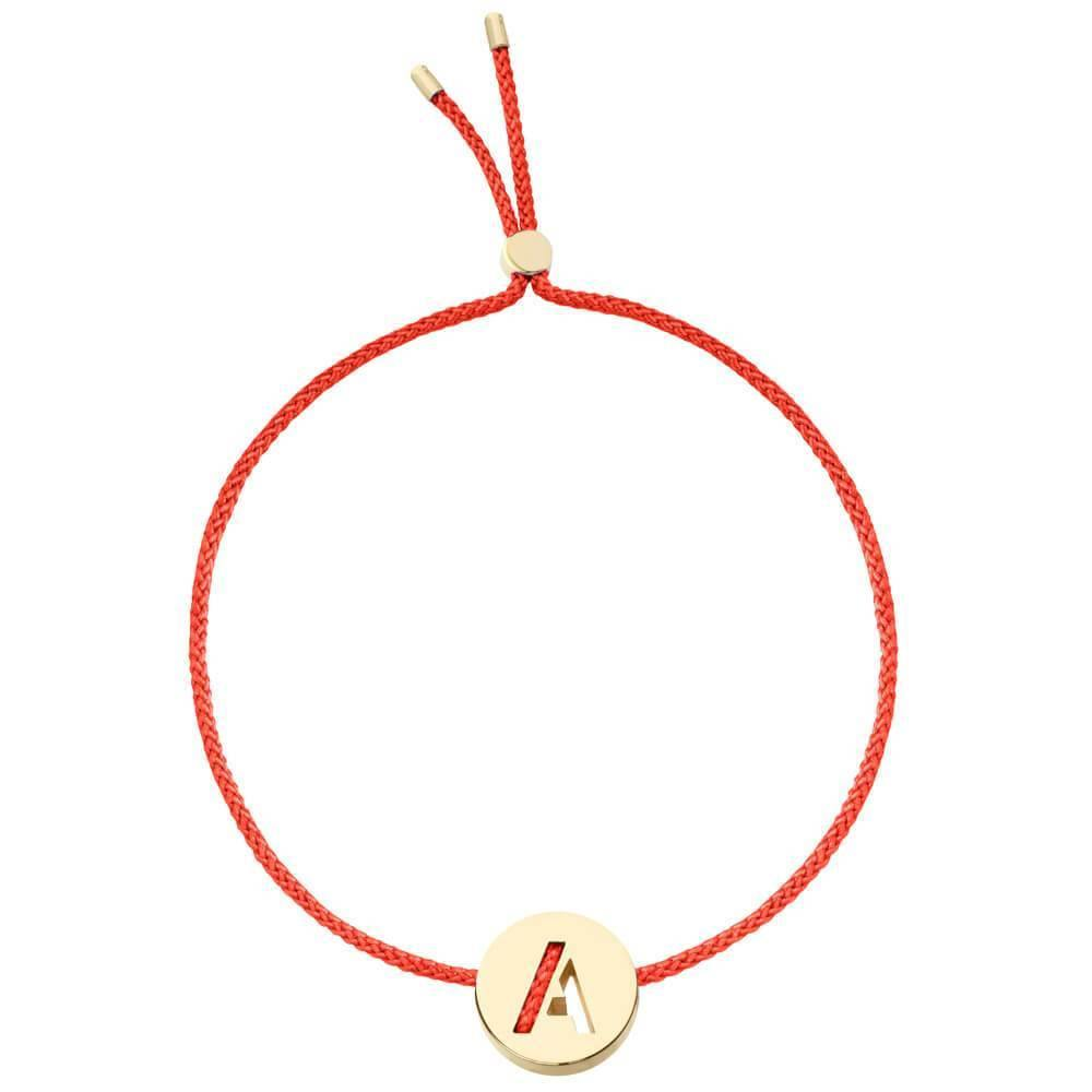 Ruifier ABC's A Cord Bracelet Red Yellow Gold