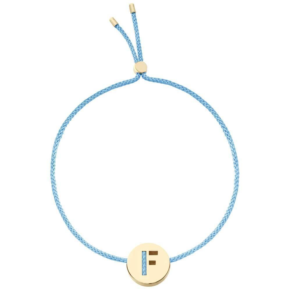 Ruifier ABC's F Cord Bracelet Turquoise Yellow Gold