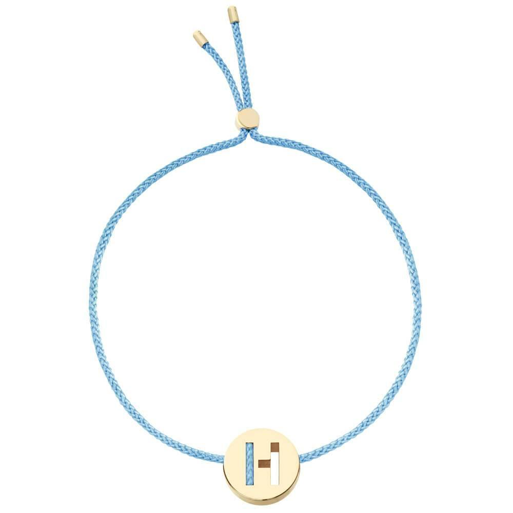 Ruifier ABC's H Cord Bracelet Sky Blue Yellow Gold