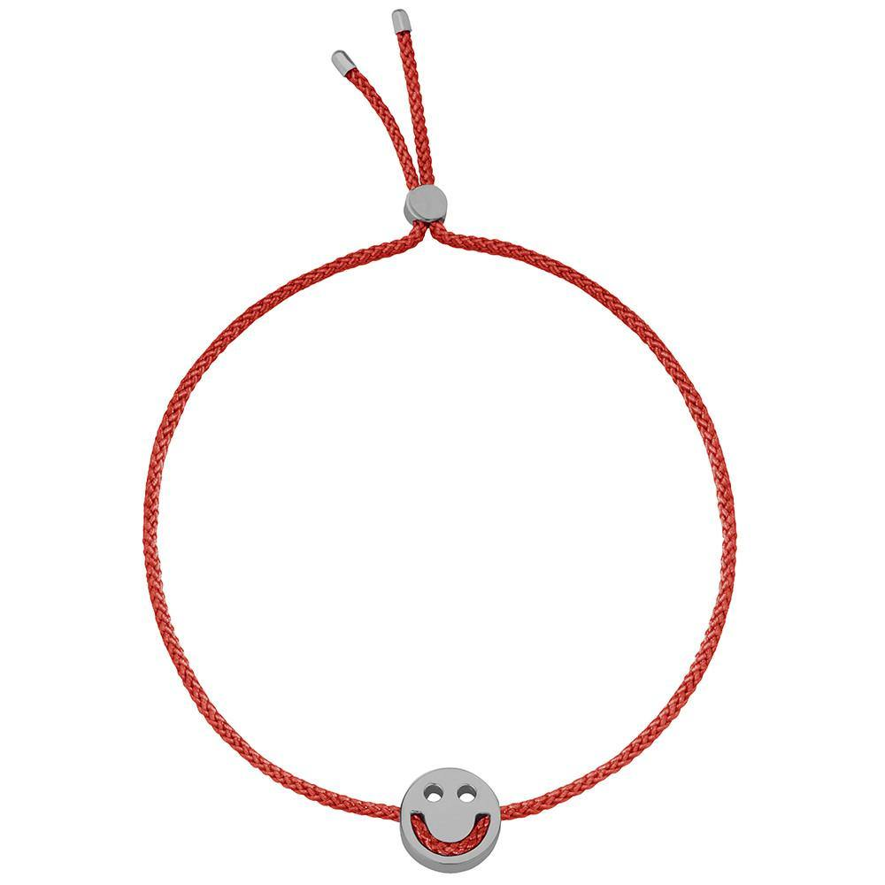 Ruifier Friends Happy Cord Bracelet Burnt Umber Black Rhodium
