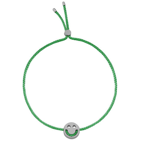 Ruifier Friends Happy Cord Bracelet Green Black Rhodium