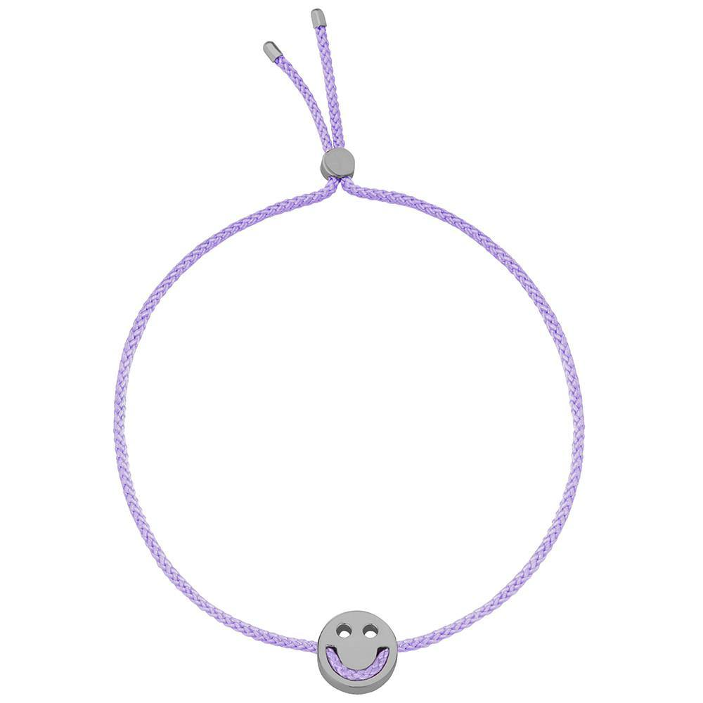 Ruifier Friends Happy Cord Bracelet Lilac Black Rhodium