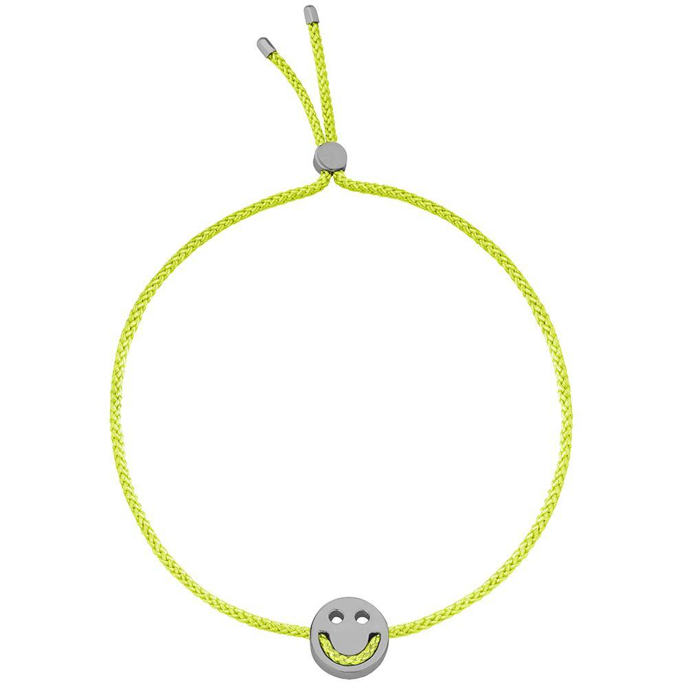 Ruifier Friends Happy Cord Bracelet Lime Green Black Rhodium