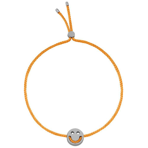 Ruifier Friends Happy Cord Bracelet Orange Black Rhodium