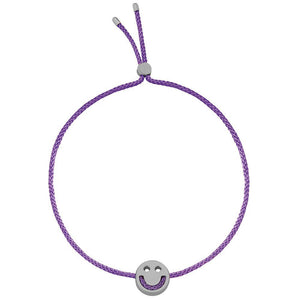 Ruifier Friends Happy Cord Bracelet Purple Black Rhodium