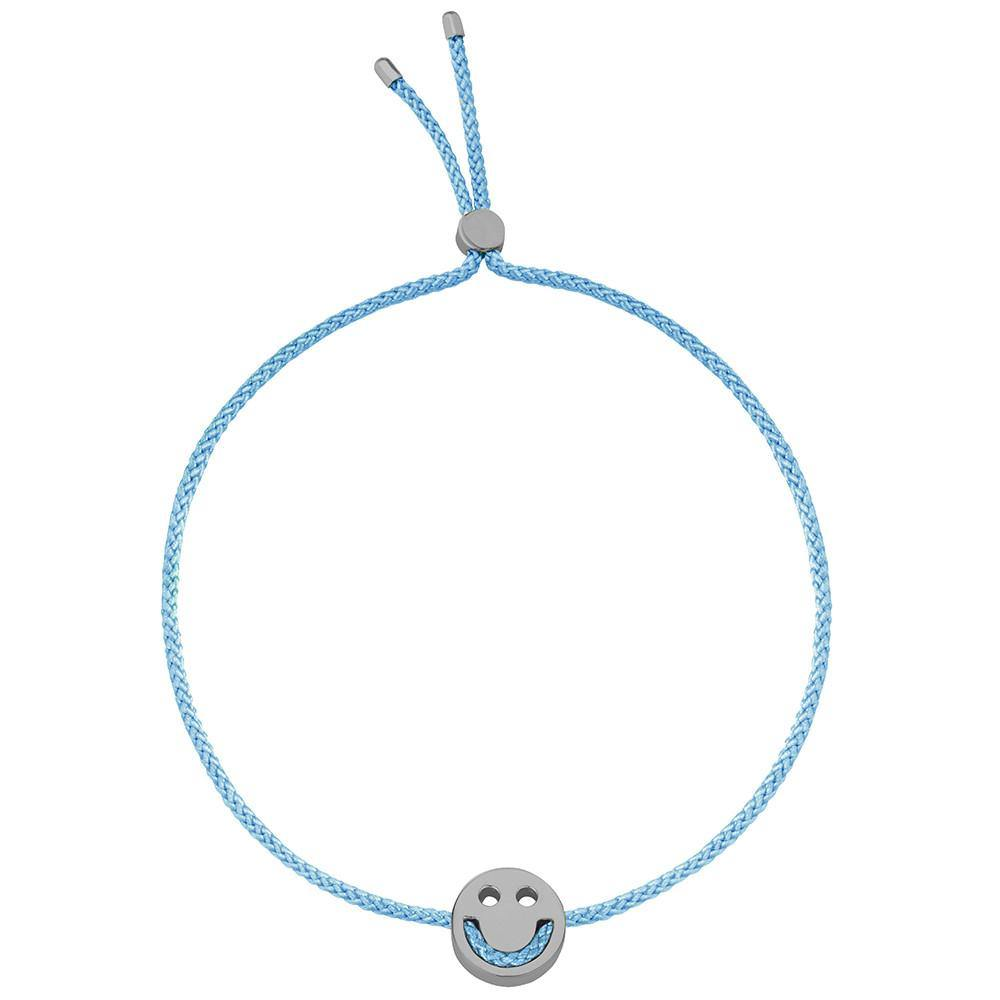 Ruifier Friends Happy Cord Bracelet Sky Blue Black Rhodium