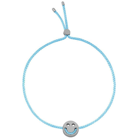 Ruifier Friends Happy Cord Bracelet Turquoise Black Rhodium