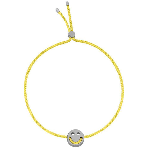 Ruifier Friends Happy Cord Bracelet Yellow Black Rhodium