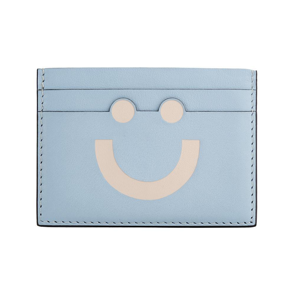 Happy Card Holder Sky Blue/Nude