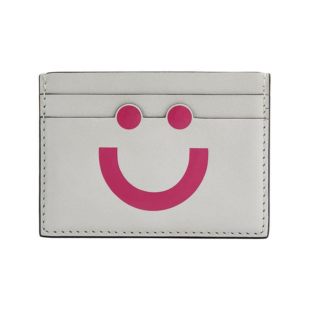 Happy Card Holder Light Grey/Pink