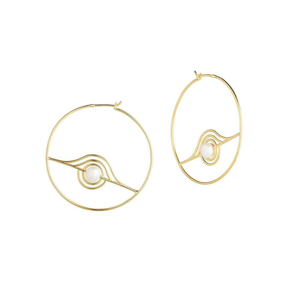 Cosmo Blazar Hoop Earrings - RUIFIER