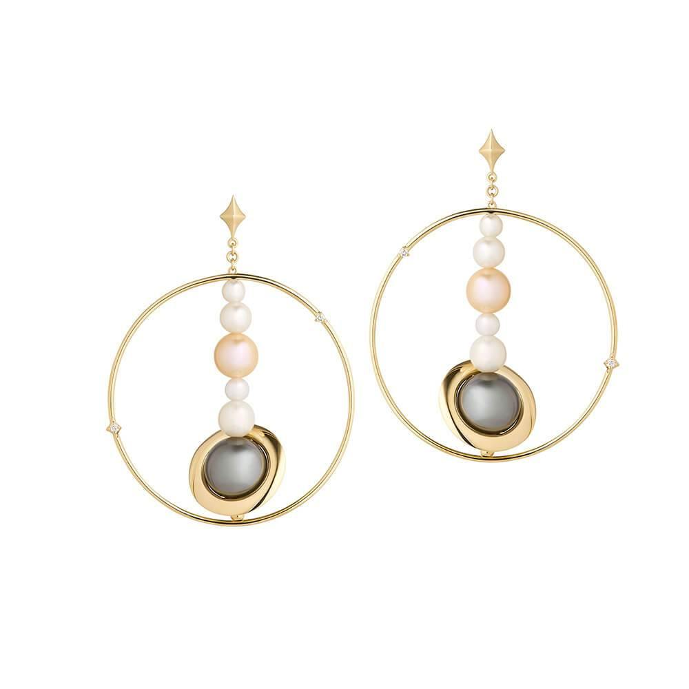 Cosmo Solar System Earrings - RUIFIER